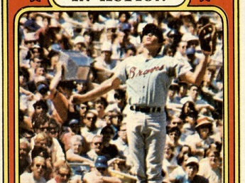 1972 Topps Darrell Evans In Action Made the Leap