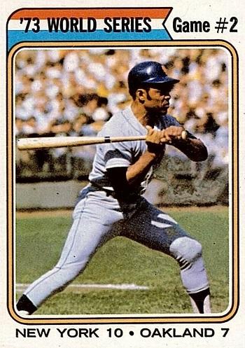 1974 Topps Willie Mays World Series