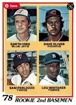 1978 Topps Lou Whitaker Rookie Card