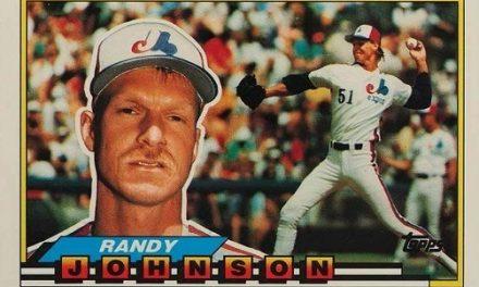 1989 Topps Big Randy Johnson Couldn't Follow Its Subject