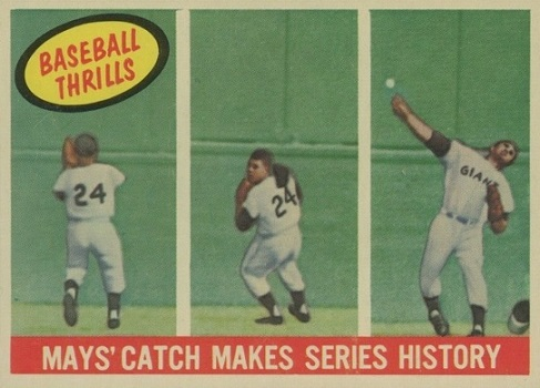 1959 Topps Willie Mays - The Catch