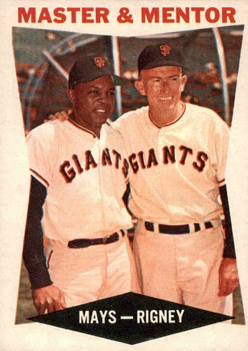 1960 Topps Master & Mentor - Willie Mays and Bill Rigney