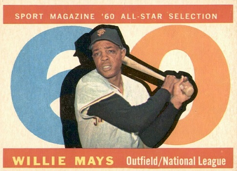 1960 Topps Willie Mays All-Star