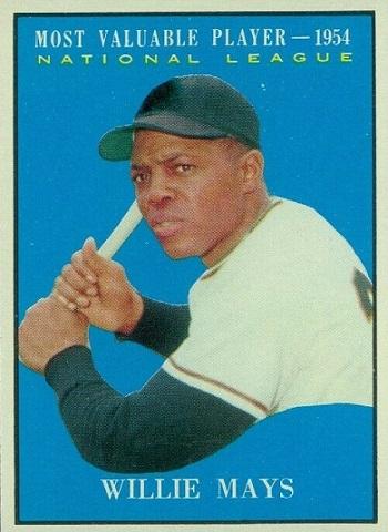 1961 Topps Willie Mays MVP