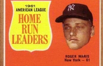 1962 Topps AL Home Run Leaders Loaded with Baseball History