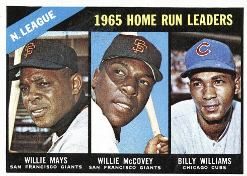 1966 Topps NL Home Run Leaders - Willie Mays, Willie McCovey, Billy Williams