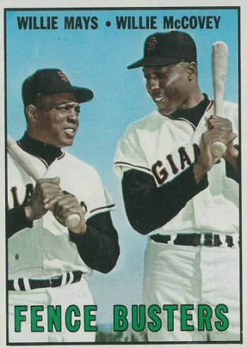 1967 Topps Fence Busters - Willie Mays and Willie McCovey