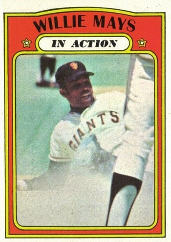 1972 Topps Willie Mays In Action