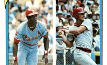1980 Topps Lou Brock Gets Caught in a Rundown