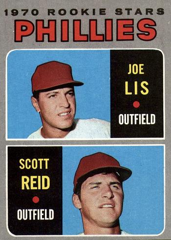 1970 Topps Joe Lis and Scott Reid