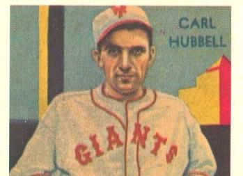 1935 Diamond Stars Carl Hubbell Is Keeping Secrets