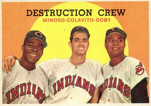 1959 Topps Destruction Crew Brought Larry Doby Home