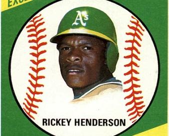 1981 Topps Squirt Rickey Henderson a Natural Phenomenon