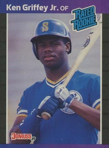 1989 donruss ken griffey jr rated rookie