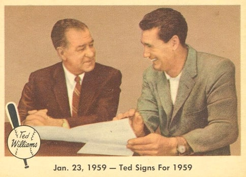Ted Signs for 1959 … But Bucky Doesn't
