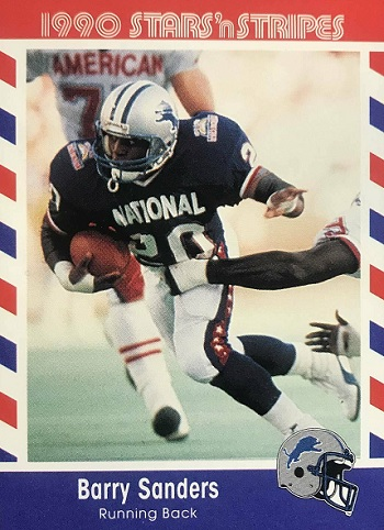 1990 Fleer Stars and Stripes Barry Sanders