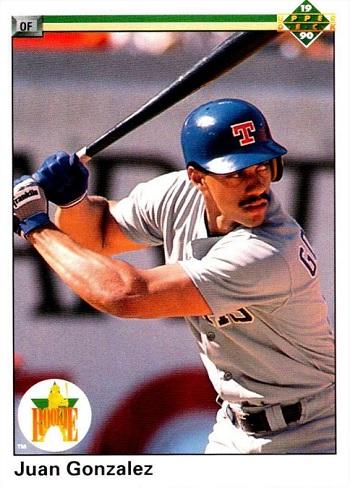 1990 Upper Deck Juan Gonzalez Star Rookie