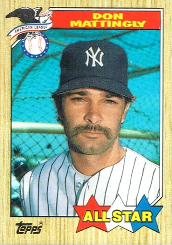 1987 Topps Don Mattingly All-Star (no trademark on front)
