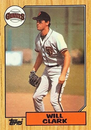 1987 Topps Will Clark